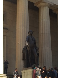 George Washington outside Federal Hall