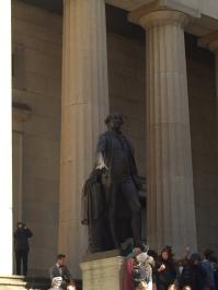 George Washington outside Federal Hall